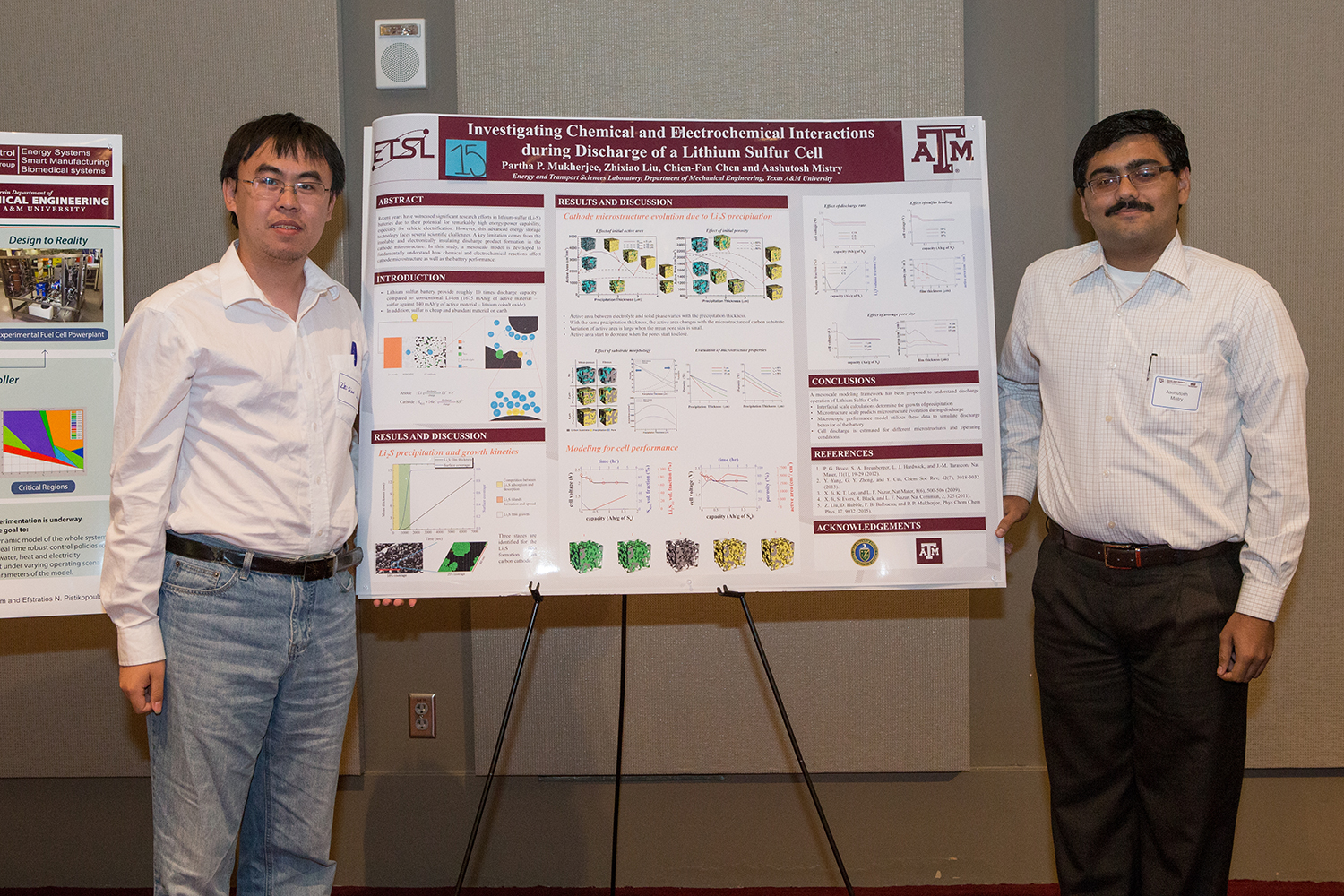 First Place, Poster Contest: Zhixiao Liu and Aashutosh Mistry - Research Workshop on Non-Fossil-based Technologies for Energy