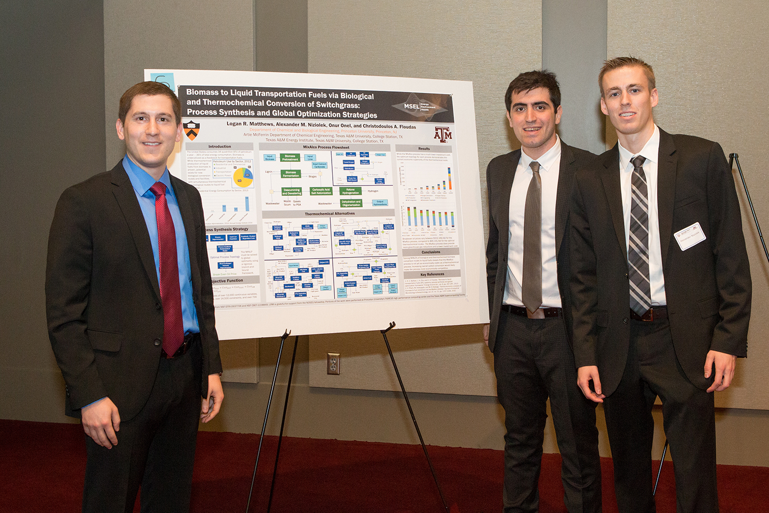 Third Place, Poster Contest: Logan R. Matthews, Onur Onel, and Alexander M. Niziolek - Research Workshop on Non-Fossil-based Technologies for Energy