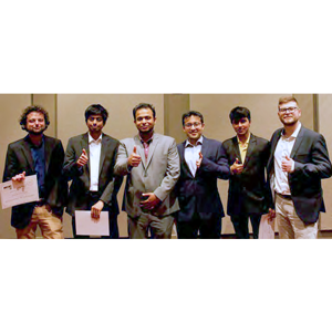 2nd Annual U-Challenge: Team Davis-Gary: 1st Place Graduate Level – Left to Right: Salih Emre Demirel, Shachit Shankaran Iyer, Mohammed Alvi, Ishan Bajaj (Team Leader), Akhil Arora, Spyridon Tsolas