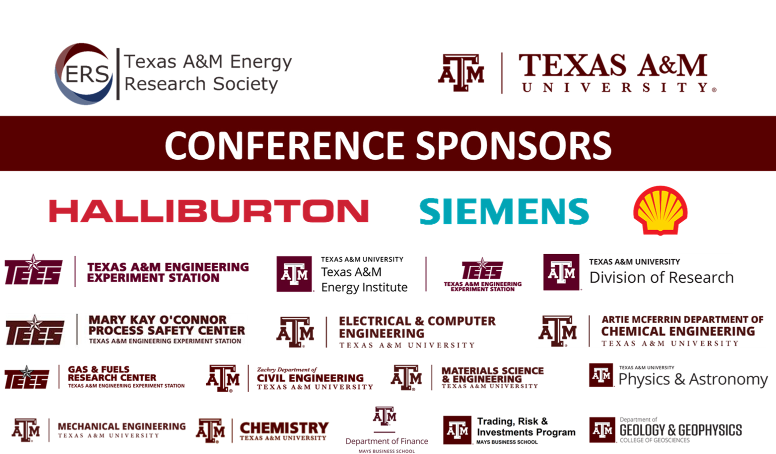 Texas A&M Conference on Energy: 2019 Sponsors