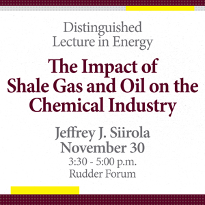 Distinguished Lecture in Energy: Jeffrey J. Siirola