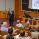 """Professor Christodoulos A. Floudas presents """"Carbon Capture, Utilization and Storage: A Multi‐scale Grand Challenge"""" at """"Energy and the Environment: Scientific Economic and Legal Issues"""" on April 18, 2016"""