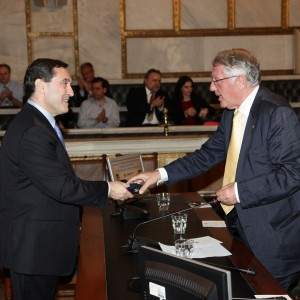 Professor Christodoulos A. Floudas is inducted into the Academy of Athens on May 26, 2015.