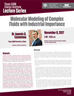 Energy Institute Lecture Series: Dr. Ioannis G. Economou