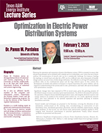 Energy Institute Lecture Series: Dr. Panos M. Pardalos