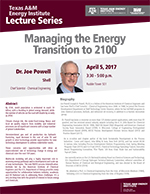Energy Institute Lecture Series: Dr. Joseph B. Powell