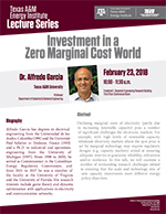 Energy Institute Lecture Series: Dr. Alfredo Garcia