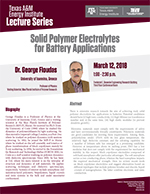 Energy Institute Lecture Series: Dr. George Floudas