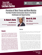 Energy Institute Lecture Series: Dr. Mukul R. Bhatia