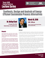 Energy Institute Lecture Series: Dr. Rafiqul Gani